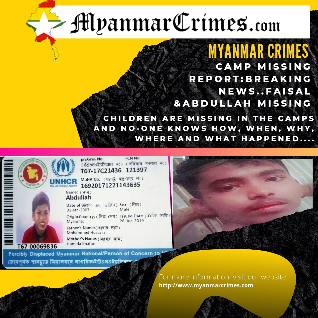 Children are missing in the Rohingya Camps and no-one knows how, when, why, where and what happened.