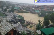 Heavy Downpour and Overflow of Water Hinder the Normal Lives at Rohingya Refugees Camps in Coxbazar